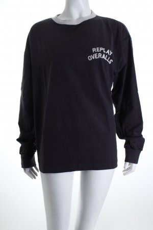 Replay Longsleeve hellbeige-anthrazit College-Look