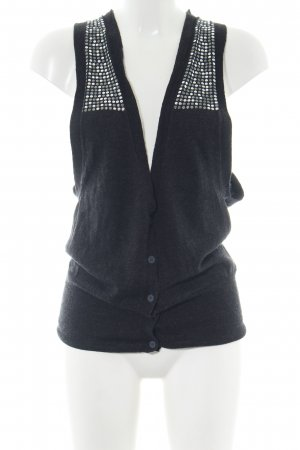 Replay Long Knitted Vest black casual look