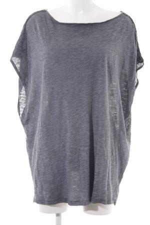 Replay Top extra-large gris-bleu foncé moucheté style décontracté