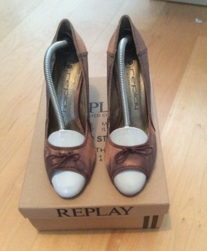 REPLAY PEEPTOE BRONZE GR.38 *wie neu