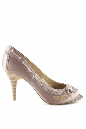 Replay Peeptoe Pumps lila-pink Zopfmuster Party-Look