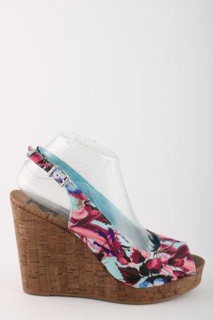 Replay Sandalo alto con plateau stampa integrale stile casual