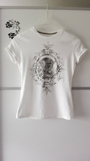 Replay Print T-Shirt Weiß Gr. S