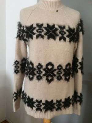 Replay Pullover beige -schwarz Größe S-M