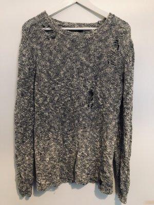 Replay Jersey de punto blanco-gris