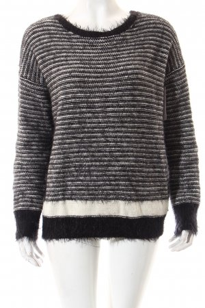 Replay Pullover schwarz-weiß Casual-Look