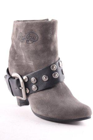 Replay Reißverschluss-Stiefeletten dunkelgrau Street-Fashion-Look