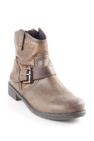 Replay Reißverschluss-Stiefeletten graubraun-bronzefarben Country-Look