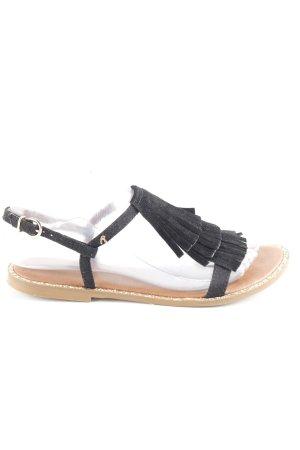 Replay Sandalo con cinturino nero-oro stile casual