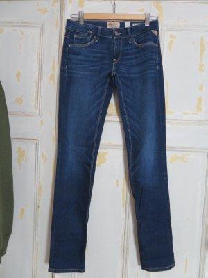 Replay Rockxanne Skinny Blue Jeans Gr. 26 dunkelblau blau W26 L32 Denim