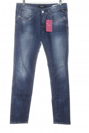 Replay Röhrenjeans blau Washed-Optik