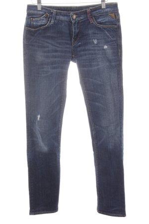 Replay Jeans cigarette bleu foncé-bleu style décontracté