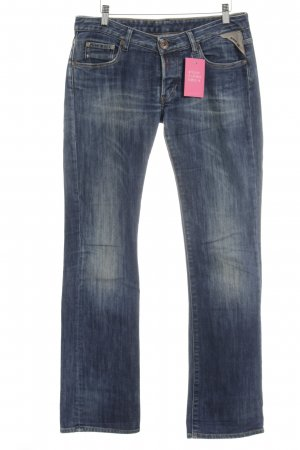 Replay Röhrenjeans dunkelblau Washed-Optik
