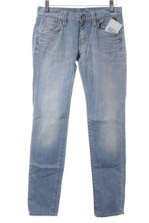 Replay Röhrenjeans hellblau-weiß Jeans-Optik