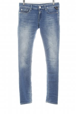 Replay Röhrenjeans kornblumenblau-wollweiß Washed-Optik