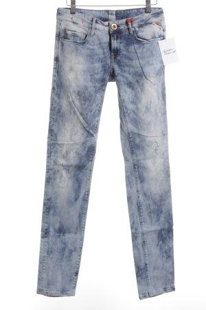 Replay Röhrenjeans weiß-blau Farbverlauf Casual-Look