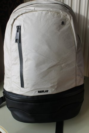 Replay Backpack black-white polyurethane
