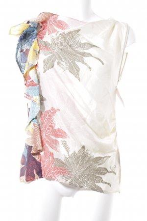 Replay Top met franjes bloemen patroon Beach-look