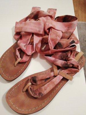 Replay Sandalias romanas gris-rosa