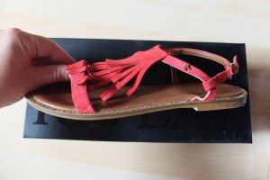 REPLAY Sandalette rot mit Fransen, GRöße 38
