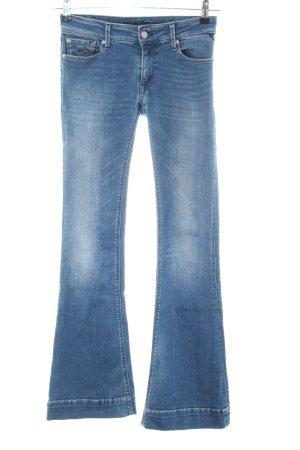 Replay Schlaghose blau Street-Fashion-Look