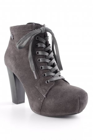 Replay Lace-up Booties dark grey casual look