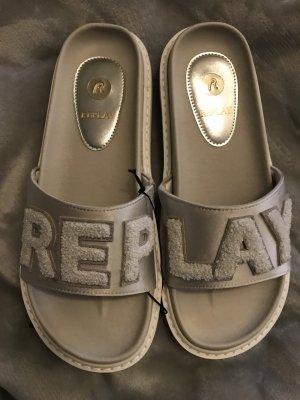 Replay Schuhe Sandalen Weiß Gr.40 NEU