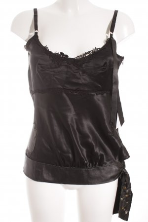 Replay Top in seta nero