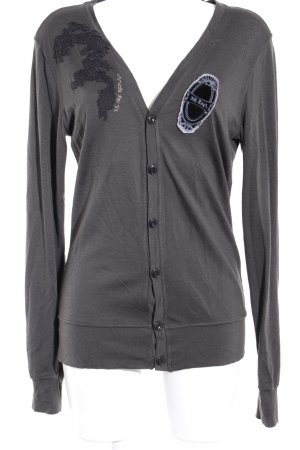 Replay Shirtjacke dunkelgrau-schwarz Casual-Look