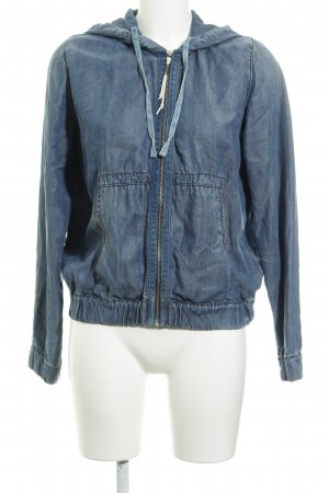 Replay Shirt Jacket cornflower blue flecked casual look