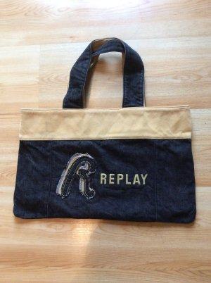 Replay Shopper / Schultertasche  aus Jeans