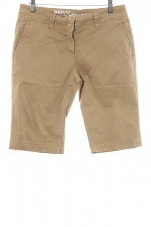Replay Short brun sable style décontracté