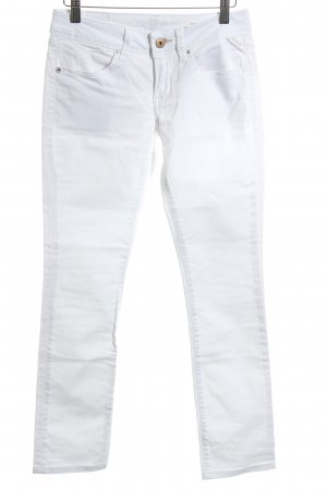 Replay Jeans skinny bianco stile casual