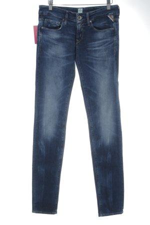 Replay Skinny Jeans blau Destroy-Optik
