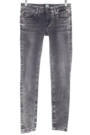 Replay Jeans skinny grigio scuro Colore sfumato stile povero