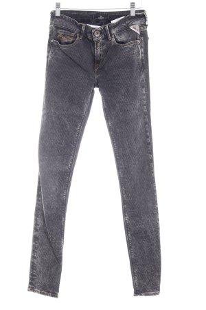 Replay Skinny Jeans dunkelgrau-hellgrau Ethnomuster Casual-Look