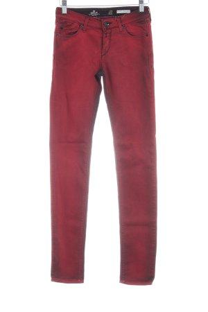 Replay Skinny Jeans dunkelrot Casual-Look