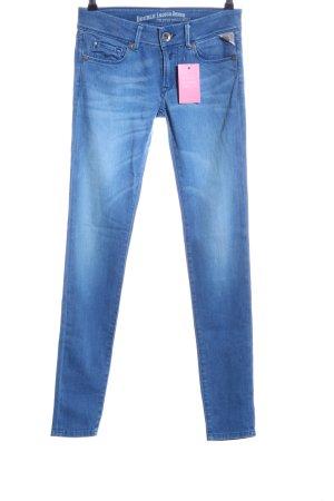 Replay Skinny Jeans blau Casual-Look