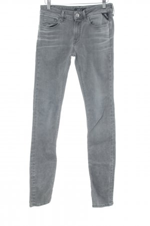 Replay Jeans skinny grigio stile casual