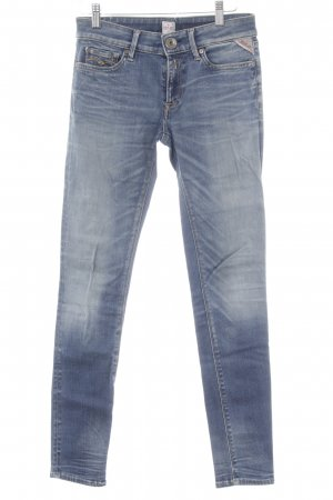 Replay Skinny Jeans graublau-stahlblau schlichter Stil