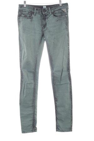 Replay Jeans skinny gris vert-vert foncé style décontracté