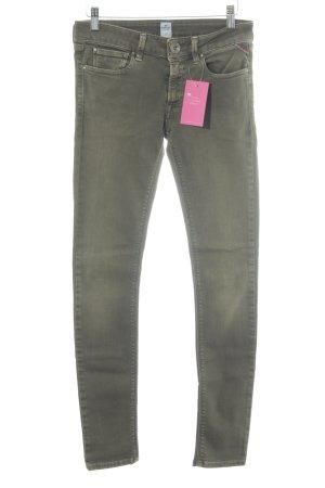 Replay Skinny Jeans grüngrau Casual-Look