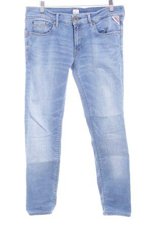 Replay Skinny Jeans hellblau Bleached-Optik