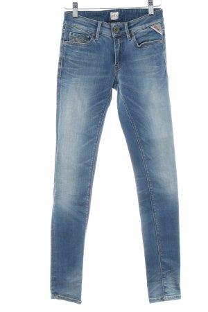 Replay Skinny Jeans mehrfarbig Washed-Optik