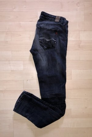 Replay Skinny Jeans Rose 25 / 30 schwarz destroyed Slim Low Top Hose