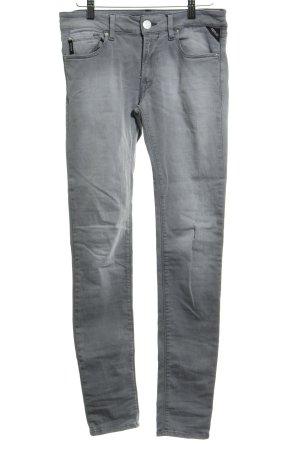 Replay Skinny Jeans silberfarben meliert Casual-Look