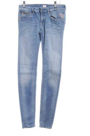 Replay Skinny Jeans stahlblau-blassblau schlichter Stil