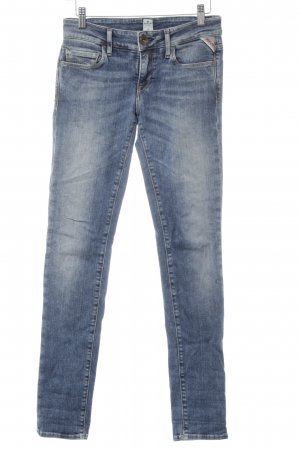 Replay Slim Jeans blau Bleached-Optik