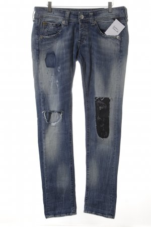 Replay Slim Jeans blau Destroy-Optik