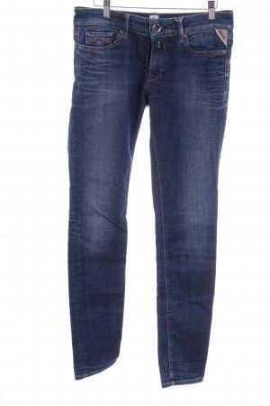Replay Slim Jeans dunkelblau-blau Casual-Look